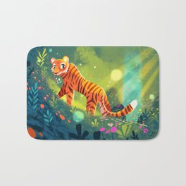 Tiger in the Garden of Kings Bath Mat