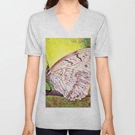 Cabbage White   Painting  Unisex V-Neck