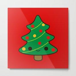 Cute Christmas tree Metal Print