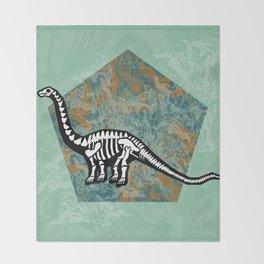Brachiosaurus Fossil Throw Blanket