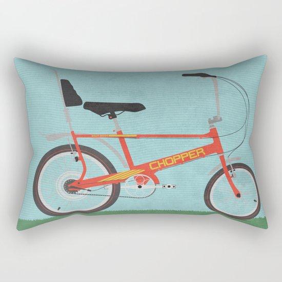Chopper Bike Rectangular Pillow