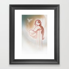 Moon Fairy Framed Art Print