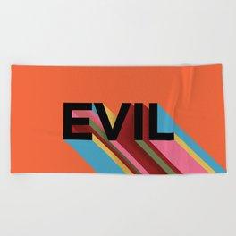 EVIL Beach Towel