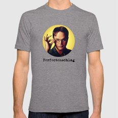 Perfectenschlag  |  Dwight Schrute Tri-Grey Mens Fitted Tee MEDIUM