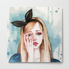 Alice cries Metal Print