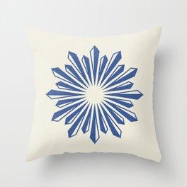 Starburst Retro 2 - Navy Blue Throw Pillow