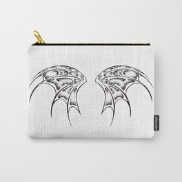 White dragon wings Carry-All Pouch