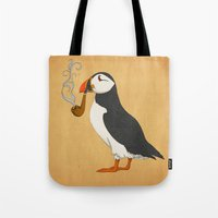 puffin Tote Bags featuring Puffin' by Megs stuff