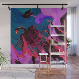 Fiery Rebirth Wall Mural