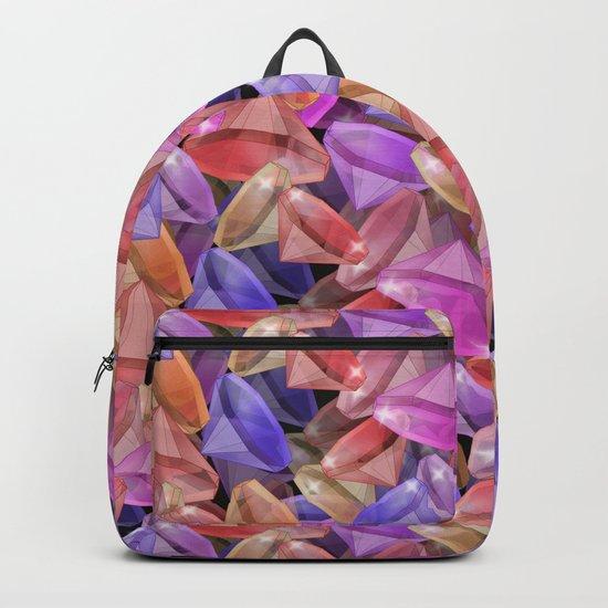 Placer precious stones gems . Backpack