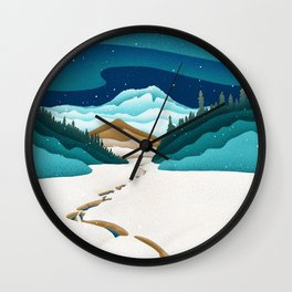 Mt. Hood from the base of Heather Canyon Wall Clock