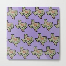 Texas Purple Background Metal Print