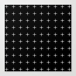Crosses (Reversed) Canvas Print