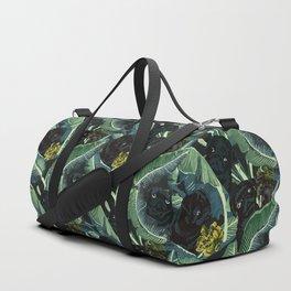 Banana Leaf and Black Pug Duffle Bag