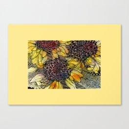 Ukrainian Sunflowers Canvas Print