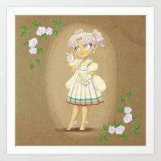 Retro Sailor Cosmos Art Print