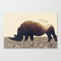 rhino Canvas Prints featuring Rhino by Yaroslav Greb