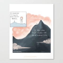How Far You've Come Canvas Print
