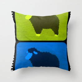 Mixed Sheeps Throw Pillow