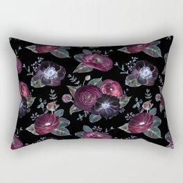 Fantasy Night Rose Red Rectangular Pillow