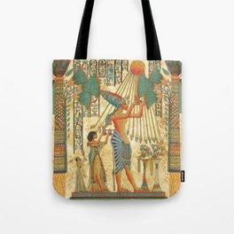 egyptian man sun god ra amun Tote Bag