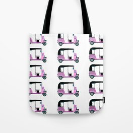 Pink tuktuk, fun design Tote Bag