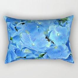 Elegant Blue Hydrangea Rectangular Pillow