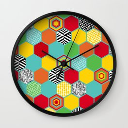 Titi Minin Hex_1 Wall Clock