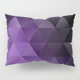 Purple Black Ice Pillow Sham