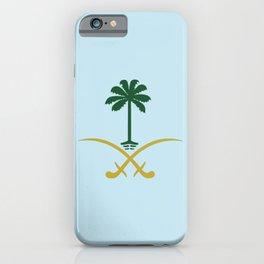 ksa logo saudi arabia logo private sticker shirt iphone case السعودية سيفين ونخلة خاص كفر ايفون جديد iPhone Case