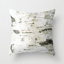 Birch bark pattern Throw Pillow