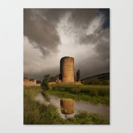 Tretower Reflection Canvas Print