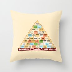 ron swanson's pyramid of greatness Throw Pillow