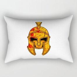 Spartan Helmet - Marked By Battle - Warrior  Rectangular Pillow
