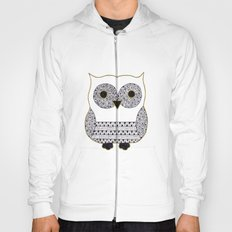 Black and White Owl Hoody
