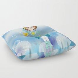 Mini Me Stars: Green Sakura Floor Pillow