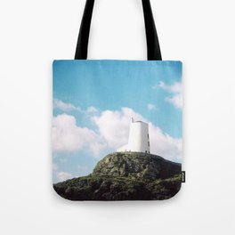 Twr Mawr Lighthouse Tote Bag