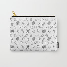 Organs, Black on White Carry-All Pouch
