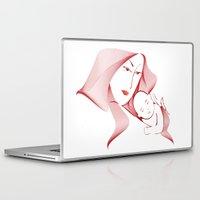 mother Laptop & iPad Skins featuring Mother by nitishckumar