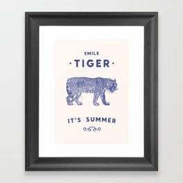 Smile Tiger, it's Summer Framed Art Print