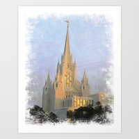 San Diego California LDS Temple Art Print