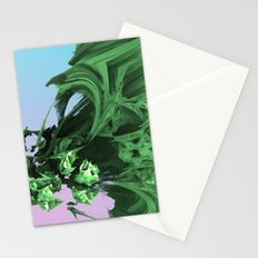 Dropping In (3D Digital Fractal Art) Stationery Cards