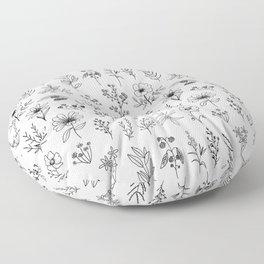 Little Patagonian Wildflowers Floor Pillow