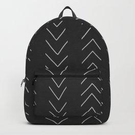 Mud Cloth Big Arrows Dark grey Backpack
