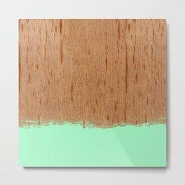 Dipped Wood - Cedar Spanish Metal Print