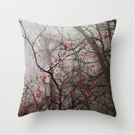 Forest of Red Throw Pillow