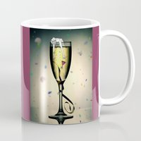 champagne Mugs featuring Champagne by CokecinL
