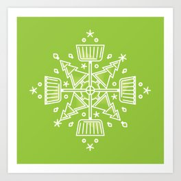 Shovelflake 1: Trees Art Print