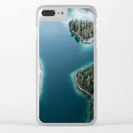Lakeside Views at Sunset - Landscape Photography Clear iPhone Case