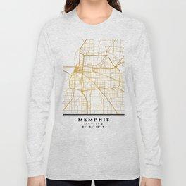 MEMPHIS TENNESSEE CITY STREET MAP ART Long Sleeve T-shirt